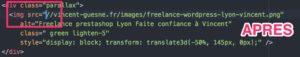Après correction du protocol HTTP