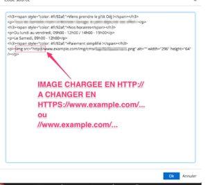 Modifier le code source http vers HTTPS